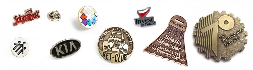 Materiały reklamowe medale i znaczki