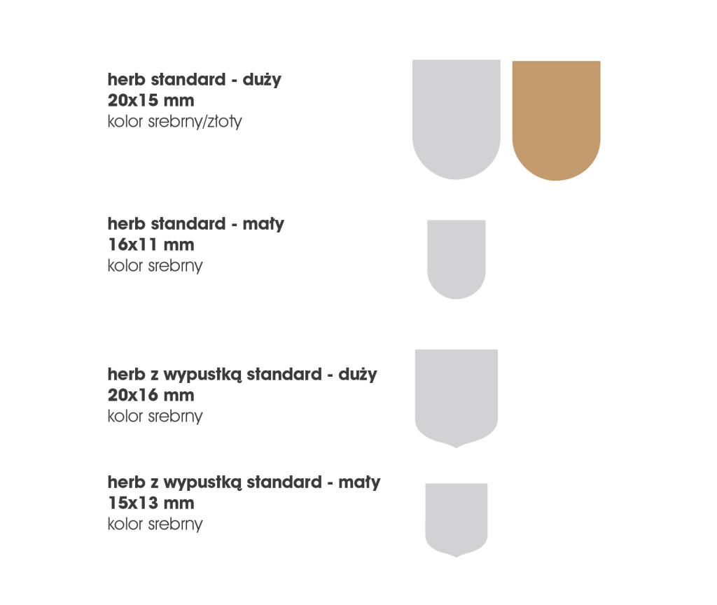 standardowe podkłady do znaczków herb z polimerem