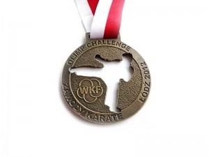medal odlewany, galwanizacja mosiądz patynowany